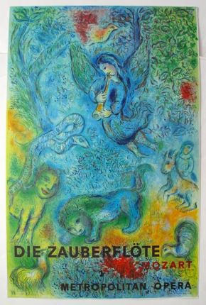 Marc Chagall THE MAGIC FLUTE (Die Zauberflote) 1966 Mourlot Lithograph