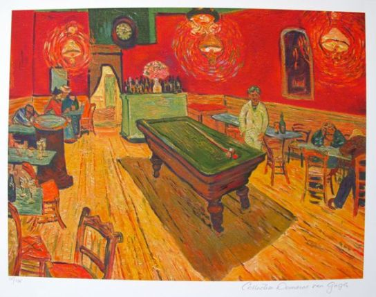 Vincent Van Gogh THE NIGHT CAFE, Rec. Room Estate Signed Limited Ed. Giclee