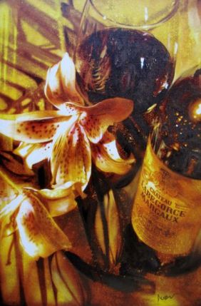 Noah LILIES & GLOW Hand Signed Limited Edition Giclee on Canvas