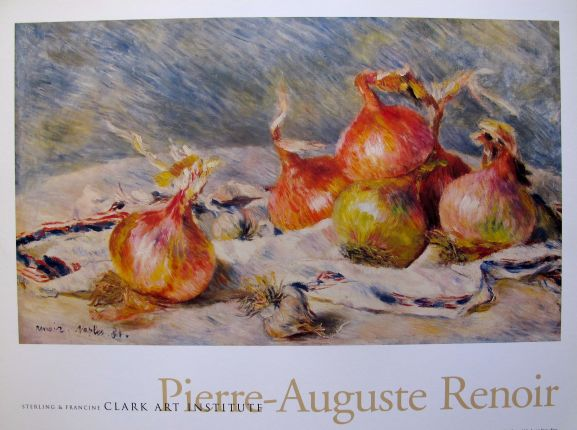 Pierre Auguste Renoir THE ONIONS Plate Signed Lithograph