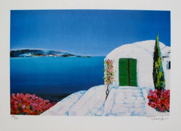 Fenech PAYSAGE GRECE Limited Ed. Hand Signed Lithograph
