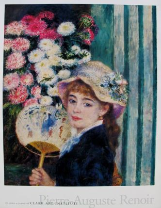 Pierre Auguste Renoir A GIRL WITH A FAN Plate Signed Lithograph