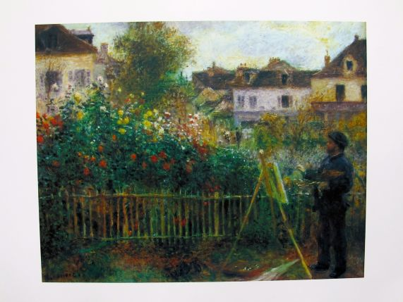 Pierre Auguste Renoir MONET PAINTING Plate Signed Lithograph Small