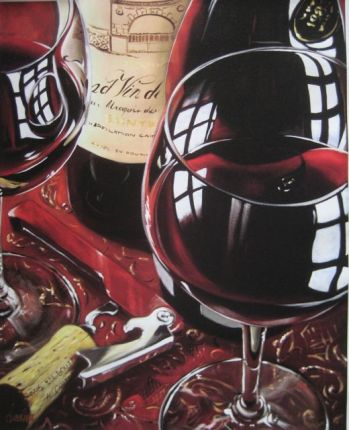 Victor Ostrovsky SIMPLY RED Hand Signed Limited Ed. Giclee on Canvas
