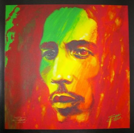 """Stephen Fishwick BOB MARLEY """"THE SOLDIER"""" Hand Signed Large Giclee on Canvas"""