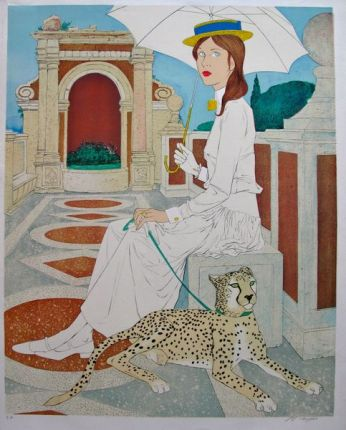 Philippe Noyer VILLA MEDICI Hand Signed Limited Edition Lithograph