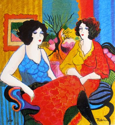 Patricia Govezensky WAITING FOR YOU Hand Signed Ltd Edition Serigraph on Canvas
