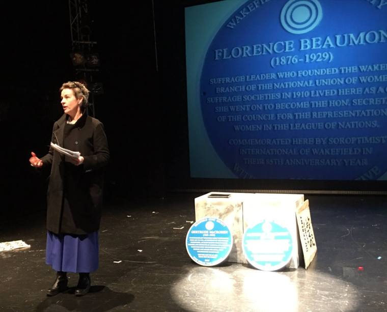 Mary Creagh at the Florence Beaumont Plaque Unveiling