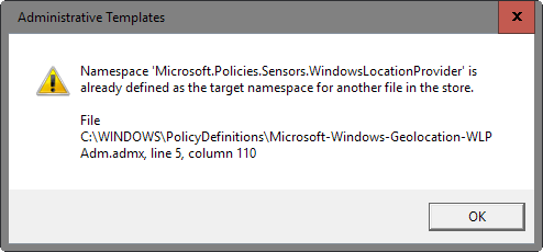 Cara memperbaiki error Namespace is already defined di Windows 10