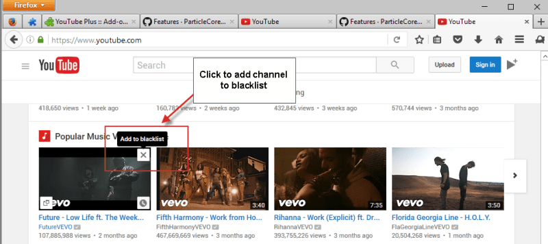 YouTube Plus untuk Firefox dan Chrome