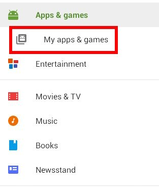 Memilih Aplikasi Android Tertentu dari Auto Updating