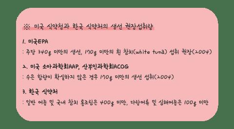 미국-식약청과-한국식약처의-생선-권장섭취량