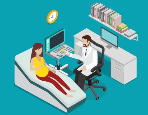 남자 산부인과 의사 초음파 검사