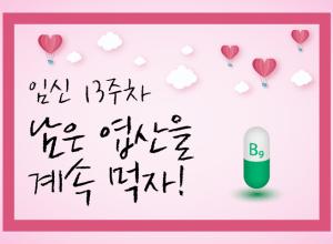 임·준·출 – 16화, 남은 엽산을 계속 먹자 (임신 13주)