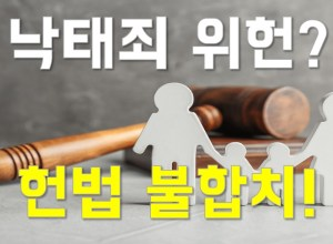 낙태죄, 위헌? 헌재 결정은 헌법 불합치!