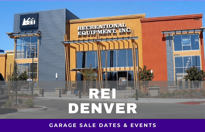 REI Denver Garage Sale Dates