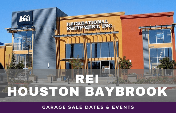 REI Houston Baybrook Garage Sale Dates, rei garage sale houston baybrook texas