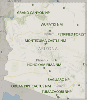 Best National Parks in Arizona, Arizona National Parks, National Parks Arizona, how many national parks in Arizona, Arizona national parks map, map of Arizona National parks, list of national parks in Arizona