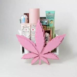 weed leaf makeup organizer