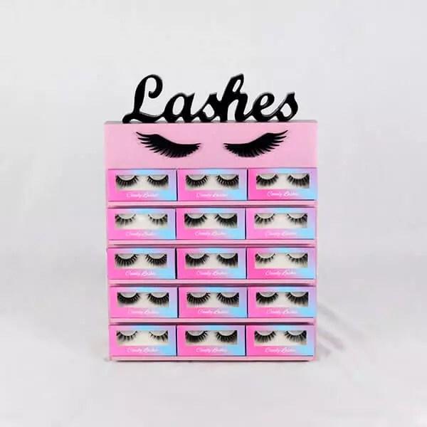 bella eyelash display