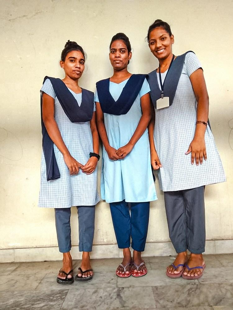 Divya, Preethi, Poornima Nurses