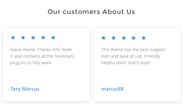 What our customers think about us and our wordpress theme for IT