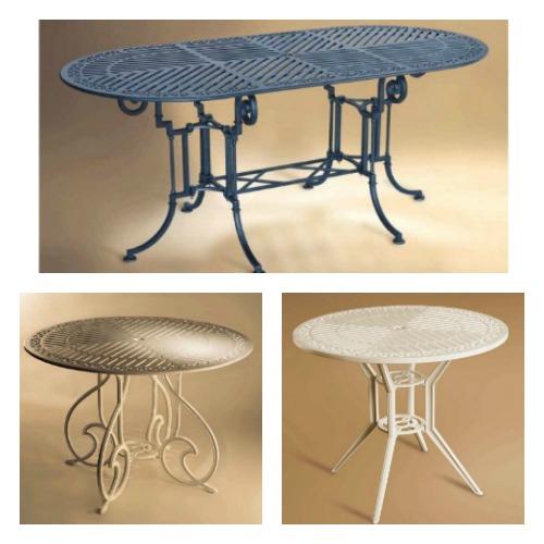 mesas de forja para patios rusticos