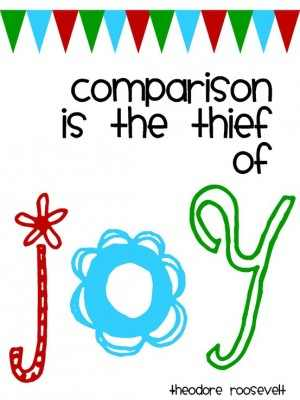 Comparison: The Thief of Joy? (Blog Hop) (1/3)