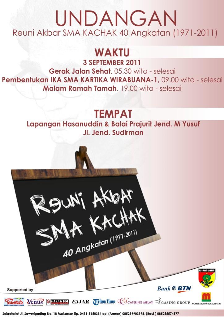 Undangan Reuni Akbar Sma Kachak For Kachak
