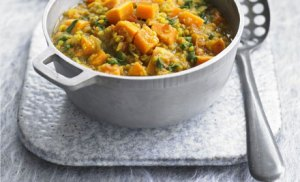 Spinach, Sweet Potato and lentil
