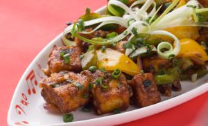 Chili Paneer – Hot and Sour Stir Fried Cottage Cheese