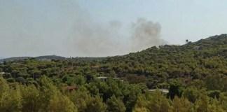 Φωτιά-στο-Σούνιο-–-Κλειστή-παραμένει-η-Αθηνών-Σουνίου