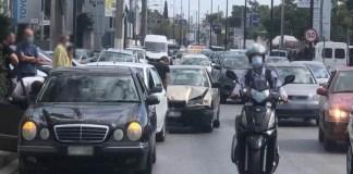 Καραμπόλα-τριών-αυτοκινήτων-στη-Λεωφόρο-Λαυρίου-(φωτό-&-βίντεο)