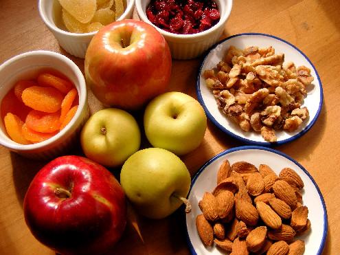 SWEAT by SlimClip Case Charoset_Apples-Nuts-Dried-Fruit-Salad-ForkFingersChopsticks.com_ Time for a Snack!