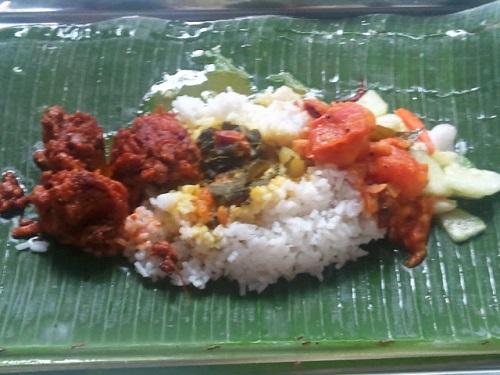 Banana leaf rice in Kuala Lumpur