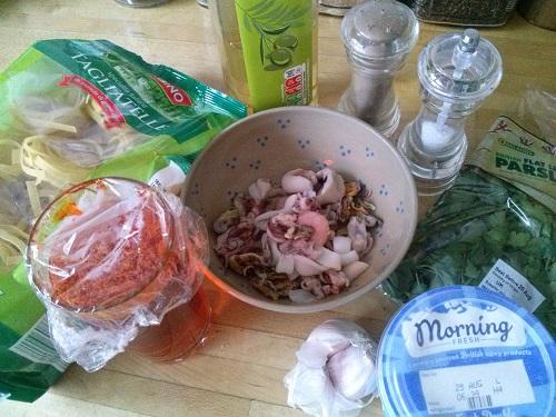 Jamie Oliver's Saffron Seafood Tagliatelle – Forking The World
