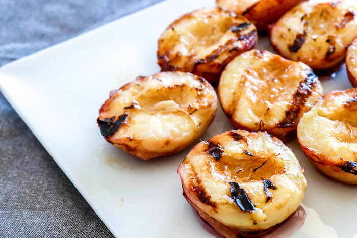 Grilled Peaches with Brown Sugar Bourbon Sauce » Fork in ...