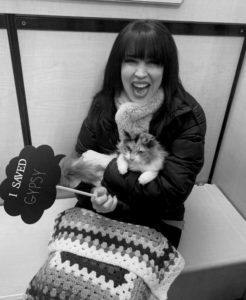 soraia zou zou mansour adopting calico kitten gypsy cat for kitty's sake