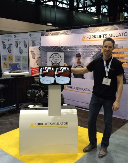 Forklift-Simulator at ProMAT 2015