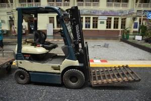 Forklift Truck with Pallets on forks