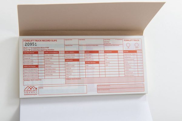 Pre-use Forklift Truck Inspection Pads