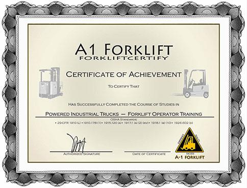 Forklift Certification Onsite Forklift Training Services