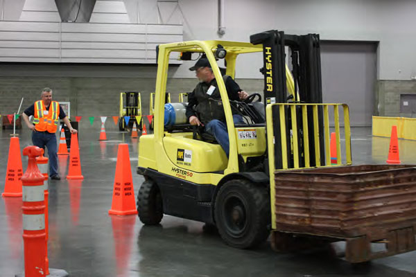 Forklift certification test