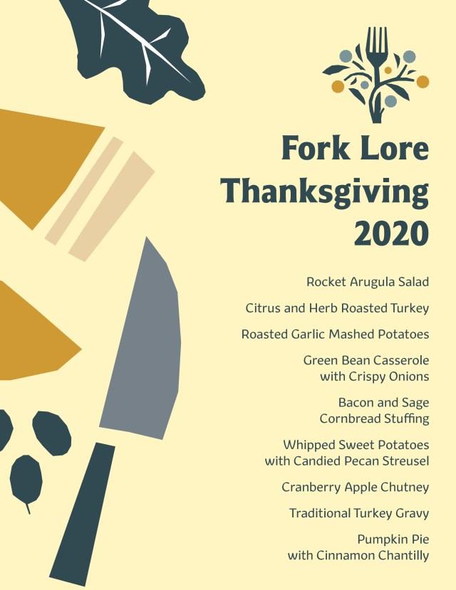 Fork Lore Thanksgiving Menu
