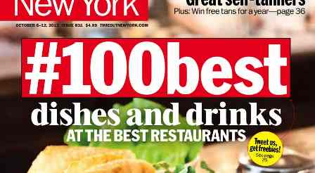 TimeOut New York 100 Best Dishes and Drinks