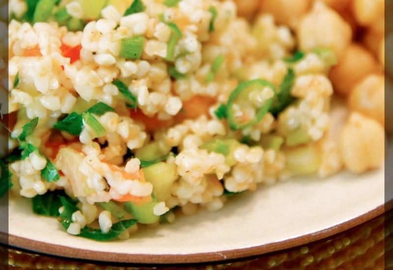 Tabouli salad mezze plate