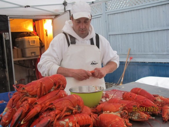 A must-try are the yummy lobster rolls at Boyce Market.