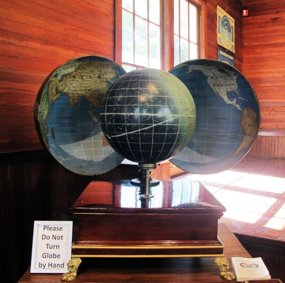 Teed's model of the universe has the earth as the inside of a hollow shell