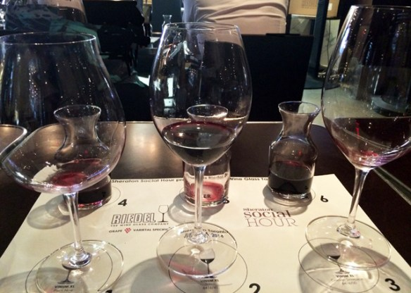 Three glasses, three wines, how will it end?