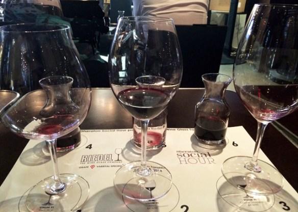 Three glasses, three wines, how will it end?